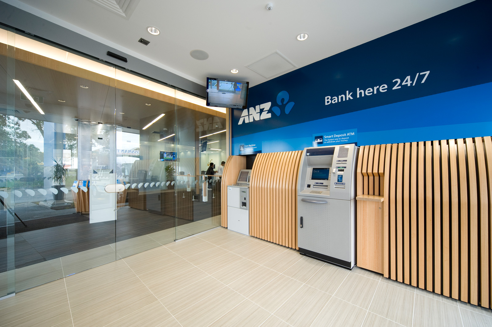Anz bank manukau for Interior and design